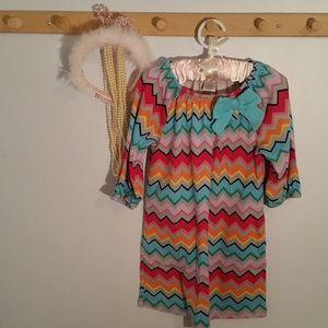 Gymboree Size 6 Brightly Colored Chevron Dress